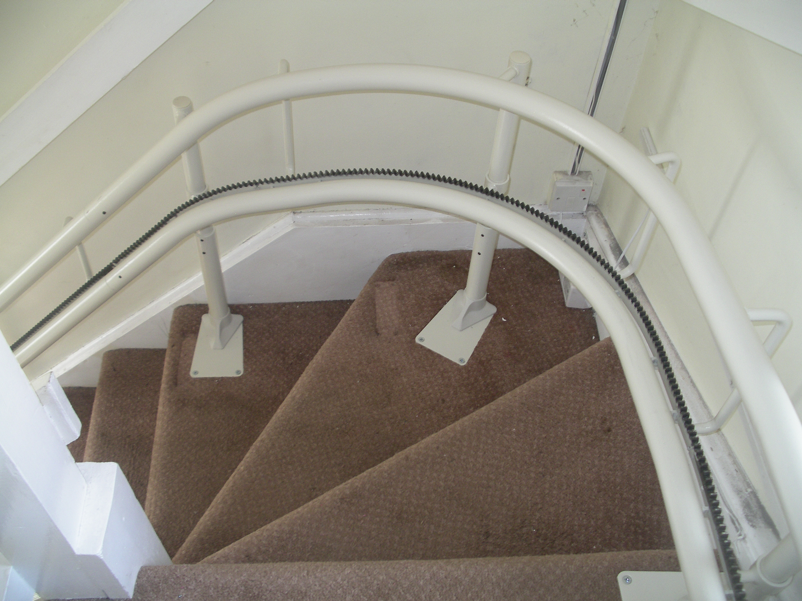 Great British Stairlifts Reconditioned Curved Stairlift Cheshire